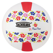 Tachikara SofTec FLRPWR Volleyball, Scarlet/White
