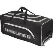Rawlings Wheeled Catcher's Bag, Black