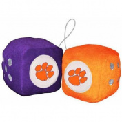 NCAA Clemson Football Team Fuzzy Dice