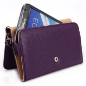 Kroo Apple iPhone 6 6s, iPhone 6 6s Plus Case | Plum Purple Smartphone Wallet with Strap for Woman