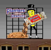 7061 Lg Model Planters Peanuts Animated & Lighted Billboard by Miller Signs