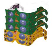 3D Christmas Glasses - Holiday Specs Eyes - REINDEER & ELVES - Transform Christmas Lights Into Magical Images - 5 Pairs