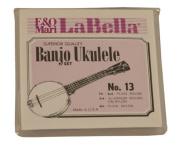 LaBella 13 Banjo Ukulele Strings Multi-Coloured