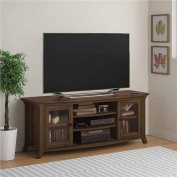 Altra Oakridge Homestead Oak TV Stand with Glass Doors for TVs up to 150cm