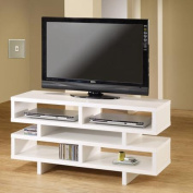 Coaster White Organise TV Console for TVs up to 120cm
