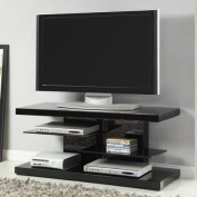 """Coaster Black """"Chic and Glossy"""" TV Console for TVs up to 110cm"""