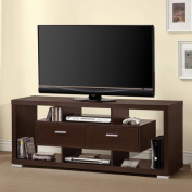 Coaster Contemporary Cappuccino TV Console for TVs up to 120cm