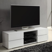 Coaster White Four Storage Drawer TV Console for TVs up to 140cm