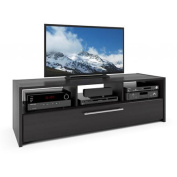 CorLiving Naples Wood Grain Black TV Stand for TVs up to 170cm