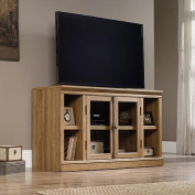Sauder Barrister Lane Scribed Oak Entertainment Credenza for TVs up to 150cm