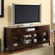 Transitional Connect-It Merlot TV Console for TVs up to 150cm