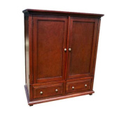 D-ART Java TV Armoire with 2 Drawers- in Mahogany Wood