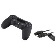 Insten 0.9m Digital Optical Audio TosLink Cable + Black Cover Case for Sony PS4