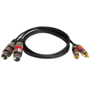 Seismic Audio - 0.9m Dual XLR Female to Dual RCA Male Patch Cable - SAXMRM-2x3