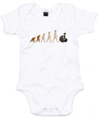 Evolution of Powerlifting, Printed Baby Grow