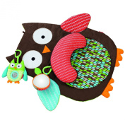 Padgene Tummy Time Mat, Hug and Hide Owl