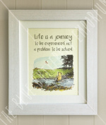 Winnie the Pooh FRAMED QUOTE PRINT, New Baby/Birth, Nursery Picture Gift, Pooh Bear, Life is a journey to be experienced