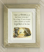 Winnie the Pooh FRAMED QUOTE PRINT, New Baby/Birth, Nursery Picture Gift, Pooh Bear, I think we dream so we don't have to be apart for so long