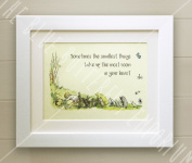 Winnie the Pooh FRAMED QUOTE PRINT, New Baby/Birth, Nursery Picture Gift, Pooh Bear, Always remember, braver, stronger, smarter