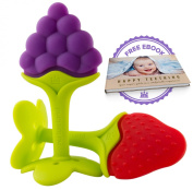 Luxury Teething Toys for the Best Baby Teether Massage by Nurtureland. Soothe Molar Teeth with Advanced Soft Natural BPA Free Tree Teethers Gift Set. Make Your Happy Baby Smile Now!