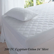 "Extra Deep 16""(40cm) Quilted Mattress Protector 200 Threat Count Hotel Quality By "" Textile.Plus"""