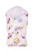 Vizaro - Swaddle Wrap for newborn - 100% Luxury Cotton - Little Owls Collection - Tested against harmful substances - Made in EU