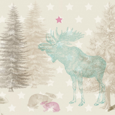 """anna wand® design - Extra large Wallpaper Border """"Forest Animals"""" 450 x 46,5 cm, self-adhesive"""
