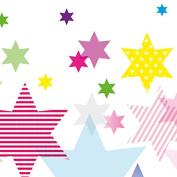 Anna Wand Border Stars 4 Girls - 450 cm x 11.5 cm - Horizontal Format - Self-Adhesive - for Walls and Furniture