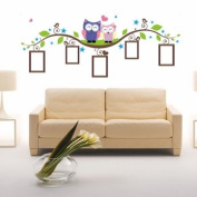 DIY Owl Photo Frame Removable Wall Decal Sticker Home Decoration