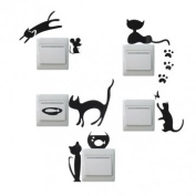 Creative Cat Switch Removable Wall Stickers Wallpaper PVC Vinyl Decal Home Decor