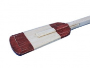 Handcrafted Nautical Decor Wooden Rustic Eastern Bay Squared Rowing Oar with Hooks, 90cm , Wood