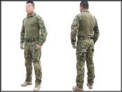Men Military Airsoft Paintball BDU Uniform Combat Gen2 Tactical Uniform with Elbow Knee AOR2