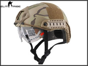Military Tactical Series Airsoft Paintball Hunting CQB Shooting Gear Combat Fast Helmet with Protective Goggle Multicam Colour