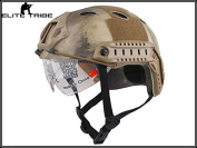 Military Army Tactical Series Airsoft Paintball Hunting Climbing Protective Combat Fast Helmet with Google Pararescue Jump PJ Type