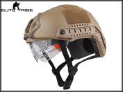Military Tactical Series Airsoft Paintball Hunting CQB Shooting Gear Combat Fast Helmet with Goggle Dark Earth Colour