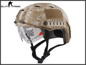 Military Army Tactical Series Airsoft Paintball Hunting Climbing Protective Combat Fast Helmet with Goggle Desert Digital Colour