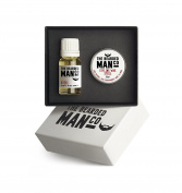 The Bearded Man Company - Set Of Two Beard Oil And Moustache Wax Steel Gift Boxed