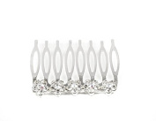 Mytoptrendz® Silver Tone and Rhinestone Crystal Hair Slide Side Comb Bridal Wedding Decorative Comb