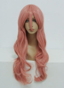 Ladieshair Vocaloid Luka Cosplay Wig Curly Pink 80 cm