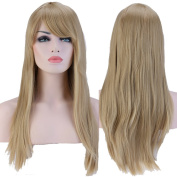 S-noilite Women's Long Straight Parties Daily Dress Full Hair Wigs Top Sale UK Ship Ash Blonde