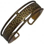 Ebuni | Brown / Gold Pouillot pattern French Hair Band
