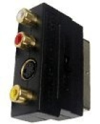 Premium Quality RGB Scart Male To 3 RCA AV Female S-Video in out Switch