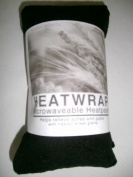Microwave Fleece Wheat Bag UNSCENTED - BLACK
