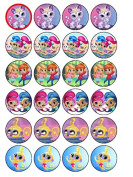24 x Shimmer And Shine Edible Cupcake Cake Toppers