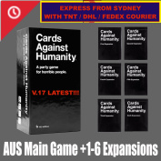 Cards Against Humanity Australian Edition BASE SET & 123456 expansion BEST Game / EXPRESS FROM SYDNEY WITH TNT / FEDEX OR DHL COURIER