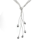 Silvered necklace - Tango - Silvered Silvered jewellery with 925 sterling silver Low price gift for woman Jewellery