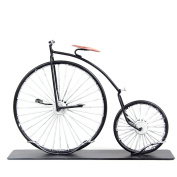 MyLifeUNIT High Wheel Bicycle, Wrought Iron Desk Decoration Craft Retro Bicycle Model