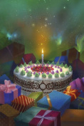 Birthday - Greetings Spellcard
