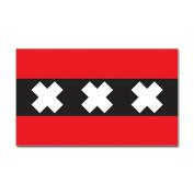 CafePress Amsterdam Flag Rectangle Sticker Sticker Rectangle - 3x5 White