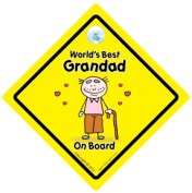 World's Best Grandad On Board, World's Best Grandad, Baby on Board, Decal, Bumper Sticker, Car Sign, Grandchild Sign, Grandparents Car Sign, Baby Sign, Baby Car Sign, Baby Signs, Grandad, Pops, Nanny, Grandparent
